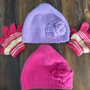 Baby CZ Cashmere Hats with free gloves